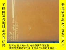 二手書博民逛書店Plato:罕見Euthyphro, Apology, Crit