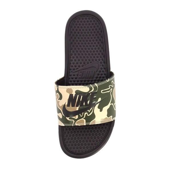 Nike Benassi JDI Print [631261-202] 男鞋 拖鞋 涼鞋 輕量 舒適 避震 綠 迷彩