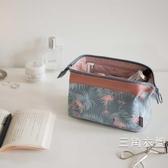 旅行化妝包韓國小號便攜女化妝袋手拿大容量簡約隨身化妝品收納包