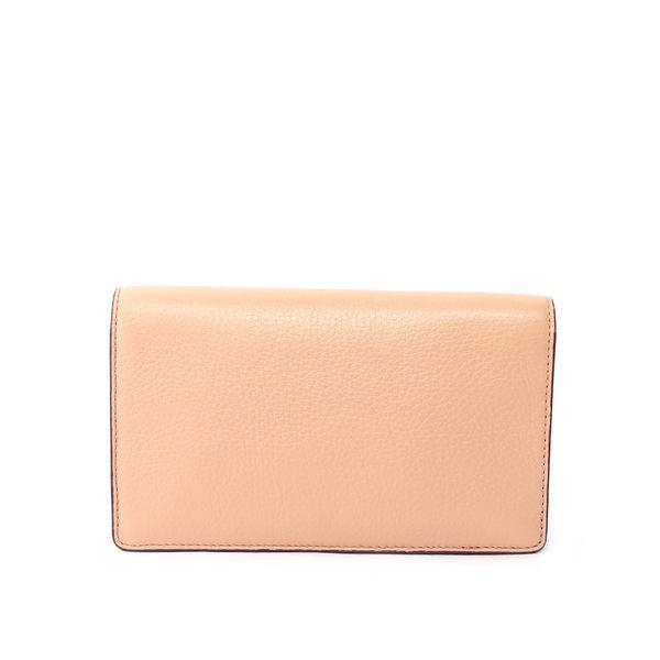 【COACH】馬車LOGO皮夾式二用手拿/斜背包(裸色) F54002 IMA55