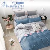 Artis - 100%純棉-清新E系列-【合版C】加大床包/枕套三件組
