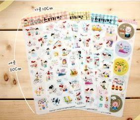 日韓文具RORY透明日記貼紙裝飾貼紙單張(隨機款) 9元