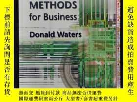 二手書博民逛書店QUANTITATIVE罕見METHODS for Business Donald WatersY6415 見