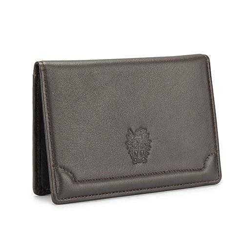 DAKS經典家徽壓紋軟皮革證件名片夾(深咖啡)230194-02