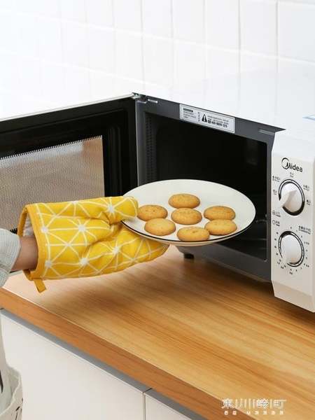 廚房防熱防燙手套隔熱耐高溫烘培放烤箱微波爐棉加厚女家用日本式   東川崎町