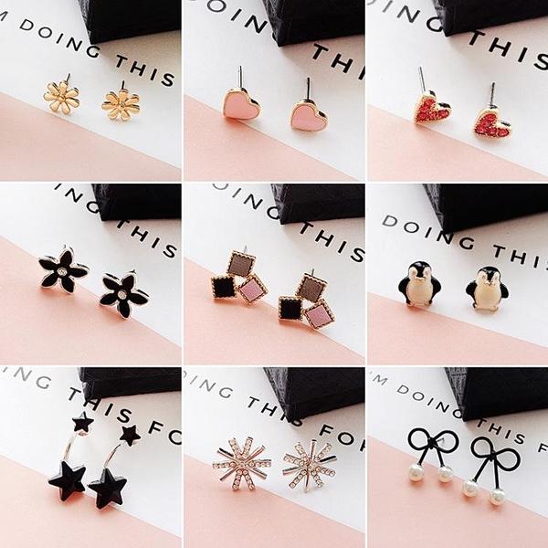 耳釘女新款潮氣質個性耳環網紅簡約冷淡風學生小巧耳飾 育心館