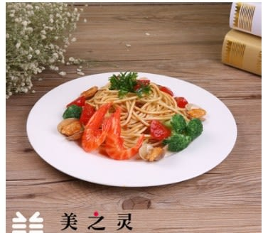 [協貿國際]仿真白蘭地海鮮意大利麵模型