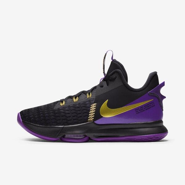 Nike Lebron Witness 5 Ep [CQ9381-001] 男鞋 運動 籃球 支撐 穩定 抓地力 黑 金