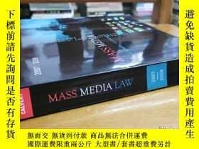 二手書博民逛書店英文原版:Mass罕見Media Law(2007 2008)Y367822 Don R.Pember 略