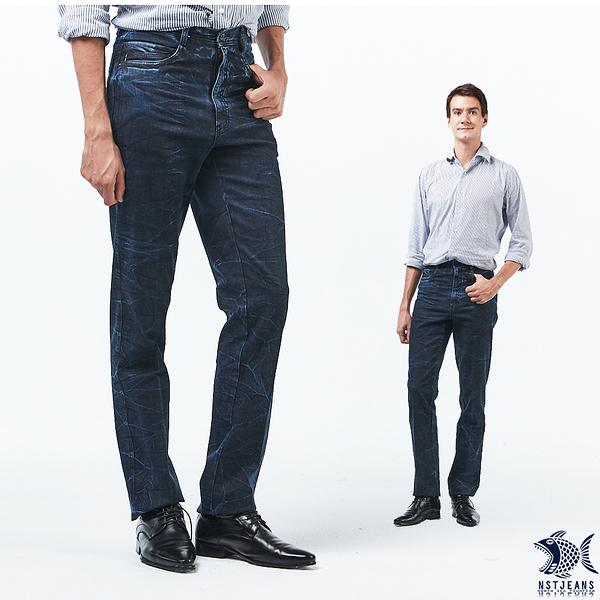 【NST Jeans】清澈透藍 水波紋 牛仔男褲(中腰) 390(5648) outlet款 台製 紳士 男 重磅