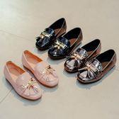 女童皮鞋韓版中大童流蘇平跟軟底單鞋 東京衣櫃