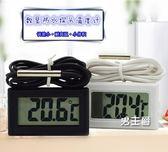 (一件免運)溫度計水溫溫度計家用高精度電子溫度計魚缸冰櫃液體酒溫數顯溫度錶