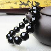 巴西黑瑪瑙手鏈男女款佛珠手串天然手飾 情侶水晶手鏈飾品 轉運珠(滿1000元折150元)