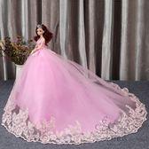 (中秋大放價)手工diy鑲鉆芭芘比娃娃套裝婚紗娃娃新娘 女孩公主生日新年禮物洋娃娃