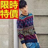 長袖毛衣-美麗諾羊毛禦寒日韓套頭男針織衫1色63t72【巴黎精品】