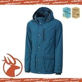 【Wildland 荒野 男款 絲絨 時尚防風保暖外套《中藍》】0A-3291077/防潑水外套/連帽外套/透氣