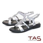 ★2018新品★TAS星星水鑽質感T字涼鞋-閃耀銀