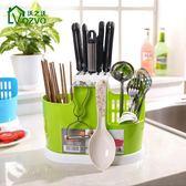 筷子筒筷子籠廚房瀝水置物架多功能家用筷子刀架筷子架 聖誕節交換禮物
