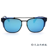 Ed Hardy 太陽眼鏡 鈦 雙槓 墨鏡 EH1045 BLACK II 透藍-霧黑 眼鏡推薦 久必大眼鏡