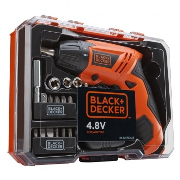B+D 4.8V可折式起子機15件組盒裝(KC4815KA15)