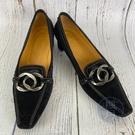 BRAND楓月 TOD'S 黑 麂皮 豆豆 金屬 髮絲紋 拋光 飾邊 低跟 尖頭鞋 休閒鞋 配飾 配件 鞋子 服飾 服裝