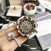 手錶 瑪莎莉88115時來運轉女士手錶 時尚水鑽石英手錶 防水手錶女 卡菲婭