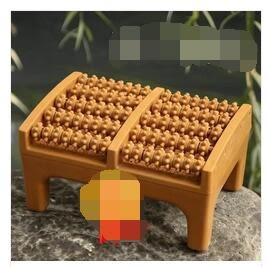 樹脂材質仿木制五排足部按摩器足底按摩器搓腳腳底按摩器滾輪 MOON衣櫥 YYJ