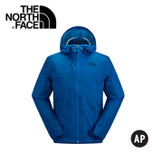 【The North Face 男款 DyVent防水外套 轟炸機藍藤蔓印 】NF00CUY7/防水外套/防水/外套