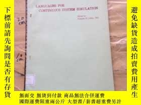 二手書博民逛書店Languages罕見for continuous system simulationY252403 Fran