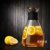 冷水壺玻璃加厚耐熱?水杯子大容量涼白開水壺家用果汁壺