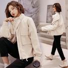 深依度2020秋裝新款大碼女裝春秋季時尚水洗皮精品皮衣外套YQ399