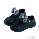 女童皮鞋秋新款韓版蝴蝶結軟底防滑公主鞋百搭寶寶兒童單鞋潮 夢幻小鎮