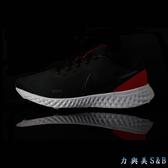 NIKE 男慢跑鞋 NIKE REVOLUTION 5 透氣網布鞋面 高彈性中底舒適好穿 黑/紅色鞋面+黑色LOGO  【8129】