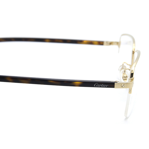 Cartier 卡地亞 CT0217OA 003 (金-玳瑁) 復古 半框 近視眼鏡 久必大眼鏡