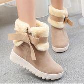 戶外雪地靴女新款冬時尚保暖加絨棉鞋 萬客居
