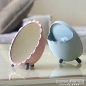 便攜宿舍鏡子台式化妝鏡桌面公主鏡梳妝鏡書桌化妝鏡學生簡約現代『新佰數位屋』