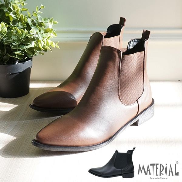 短靴 側U鬆緊尖頭短靴 MA女鞋 T2041
