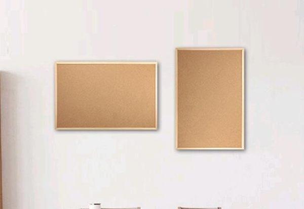 軟木板留言板掛式家用記事板實木框背景照片墻個性創意廣告欄 cf 全館免運