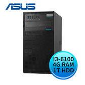ASUS 華碩 D520MT-I36100999R (Intel i3-6100/4G DDR4/1TB/24X DVD-RW/WIN10 PRO) 商用桌上型電腦