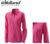 [速捷戶外] WildLand荒野 W1201-09女拉鏈可調節抗UV襯衫-桃紅 (荒野.襯衫.透氣.輕透.UV)