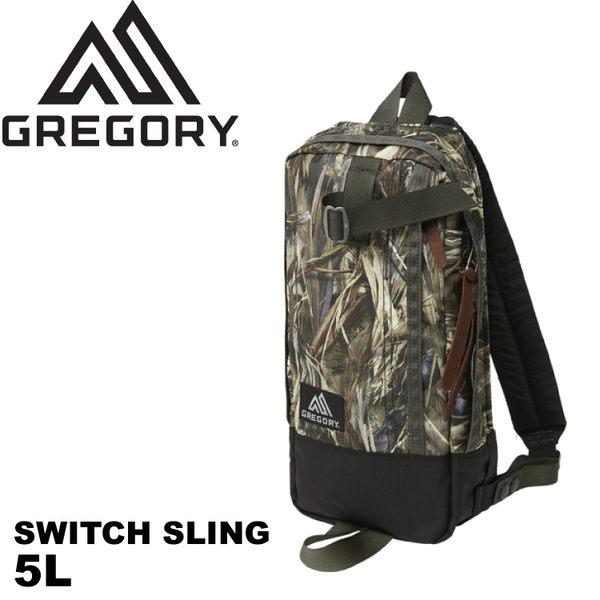 【GREGORY 美國 SWITCH SLING 5 單肩包《偽裝迷彩》5L】65586/運動斜背包/側背包/水餃包/旅遊/日系包款