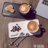 陶瓷杯子辦公室水杯咖啡杯簡約情侶杯牛奶杯帶勺馬克杯早餐杯 全館88折