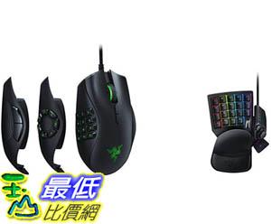 [9美國直購] Razer Naga 滑鼠 Trinity Gaming Mouse - 16,000 DPI Optical Sensor - Interchangeable Side Plate w/ 2, 7,