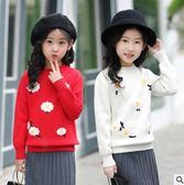 毛衣毛衫冬天新款羅紋領甜美百搭時尚加厚打底衫