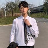 春夏新品港風襯衣修身商務白色襯衣男韓系寬鬆休閒襯衫潮 滿天星