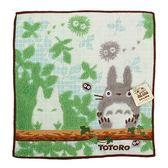 日本龍貓 TOTORO樹上休憩純綿小方巾989257