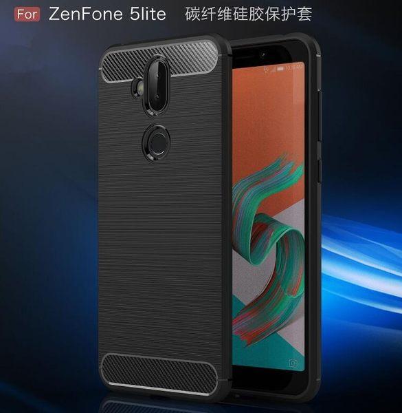 【SZ13】asus zenfone 5Q手機殼 碳纖維拉絲手機殼 zenfone5 lite手機殼 手機套 ZC600KL手機殼