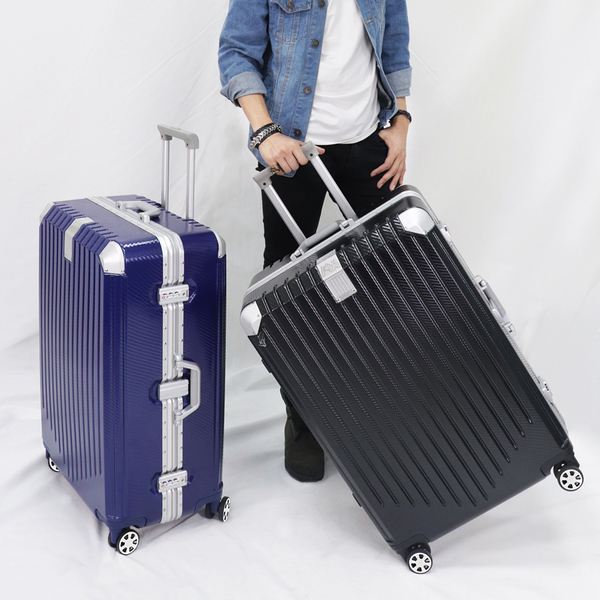 行李箱 旅行箱AoXuan 29吋PC格紋鋁框箱 拉桿箱 時光旅行