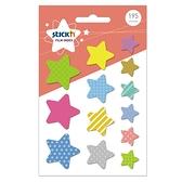 【奇奇文具】N次貼 66070 星星 透明透型標籤195張/13本