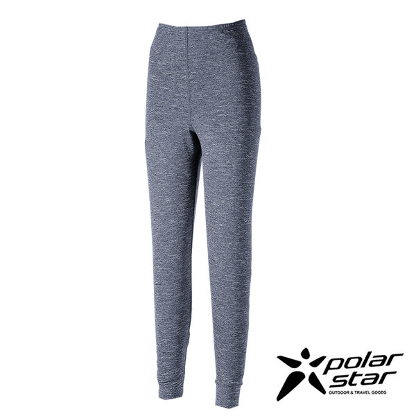 PolarStar 女 遠紅外線排汗保暖長褲 (吸濕快乾│膠原蛋白│台灣素材│抗靜電)『黑藍』P17432